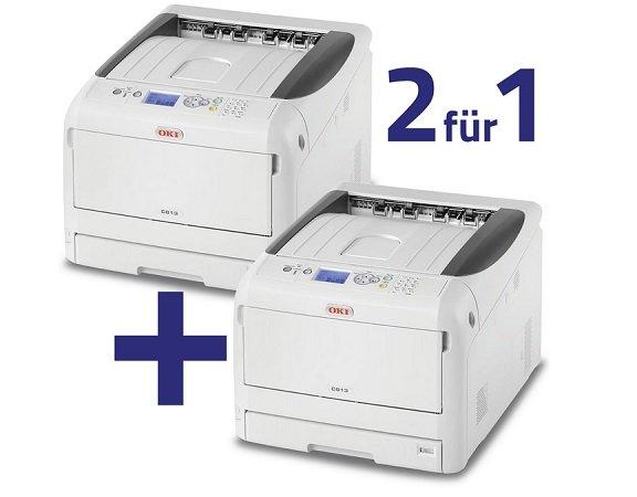 2für1: 2x OKI C813n A3 Farblaserdrucker 23 Seiten/Min für 699€ (Statt 1.179€)