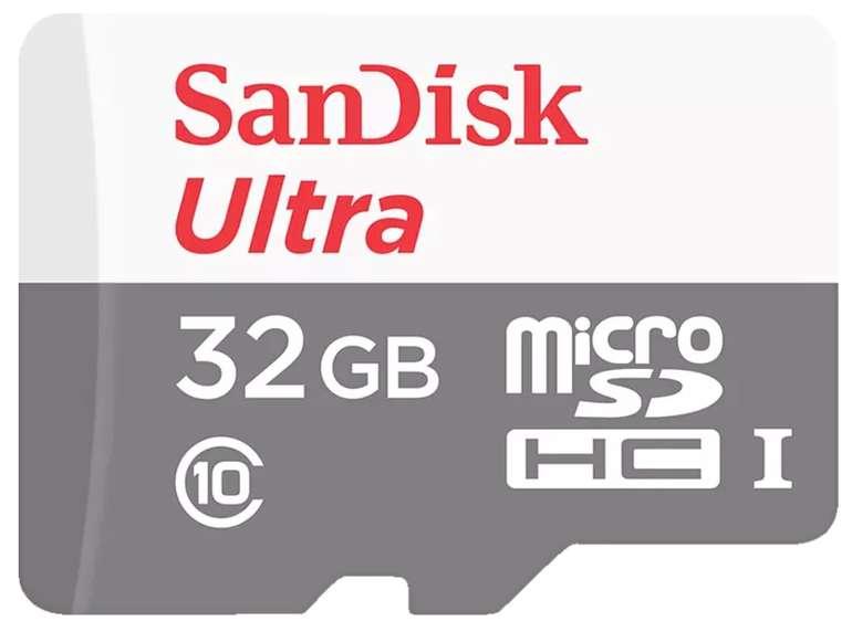 2x SanDisk Ultra microSDHC Speicherkarte mit 32GB für 8,99€ inkl. Versand (statt 20€)
