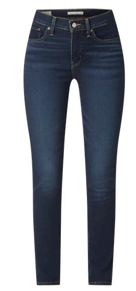 Levi's 300 Shaping Jeans mit Stretch-Anteil in Dunkelblau für 71,99€ inkl. Versand (statt 90€)