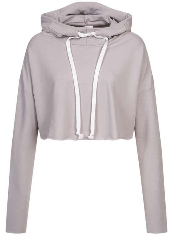 Reebok Dance Crop Damen Hoodie in Grau für 23,94€inkl. Versand (statt 35€)