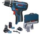 Bosch GSR 10,8-2-L Akkuschrauber + 2 Akkus + Zubehör & Tasche für 87,20€