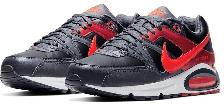 Nike Air Max Command Leder Sneaker Schwarz/Rot für 79,99€ inkl. VSK (statt 129€)