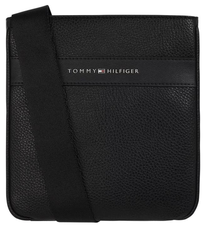 Tommy Hilfiger Umhängetasche in Leder-Optik in Schwarz für 24,99€inkl. Versand (statt 69€)
