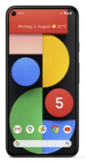Google Pixel 5 mit 128 GB Dual SIM in schwarz für 563,14€ inkl. Versand (statt 614€)
