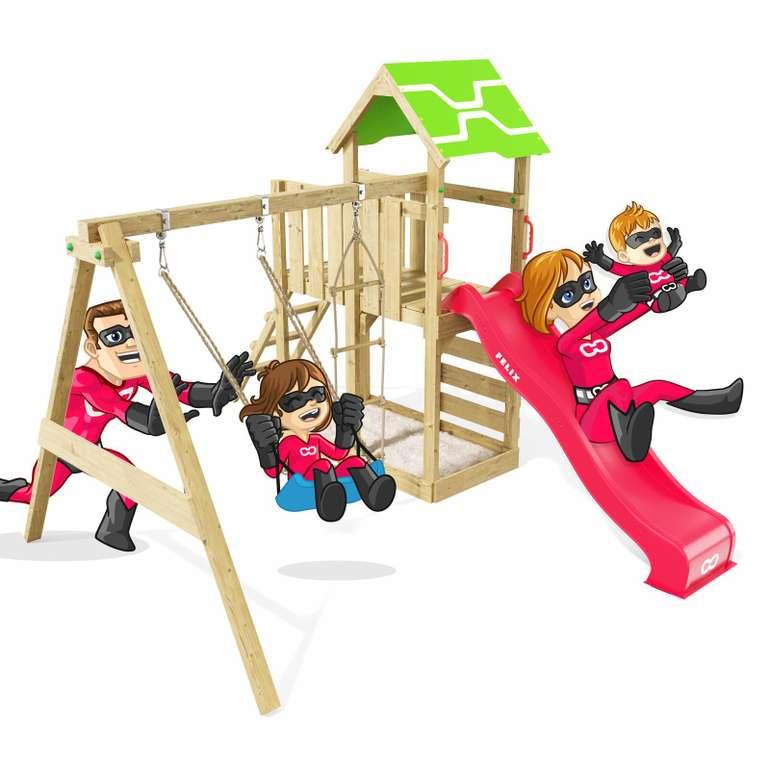 Heroows by Wickey Spielhaus mit Rutsche & Kletterwand für 296,99€ inkl. Versand (statt 360€)