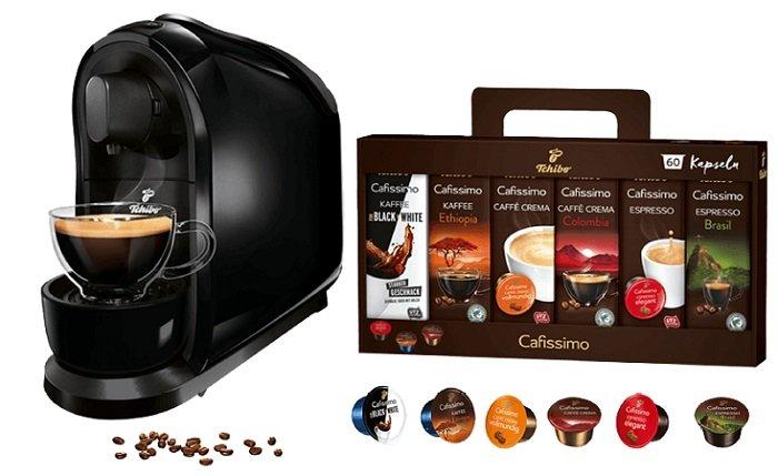 Media Markt Kaffee Tiefpreiswoche, z.B. Tchibo Cafissimo + 60 Kapseln nur 29€!