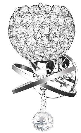 Cozihoma - Kristall Wandleuchte mit E14 Fassung für 9,99€ (statt 16,49€)