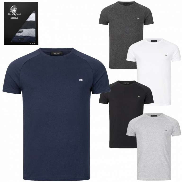 Rock Creek Herren T-Shirt (5er-Set) für 29,90€inkl. Versand (statt 40€)