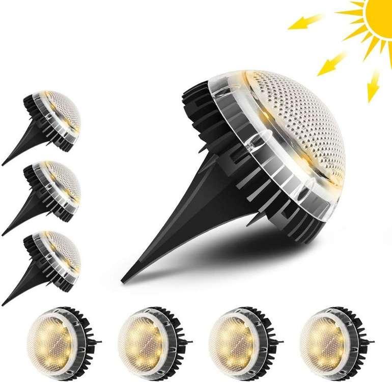 Tooltoo 8er Pack LED Solarleuchten (warmweiß, IP67) für 19,99€ inkl. Versand (statt 40€)