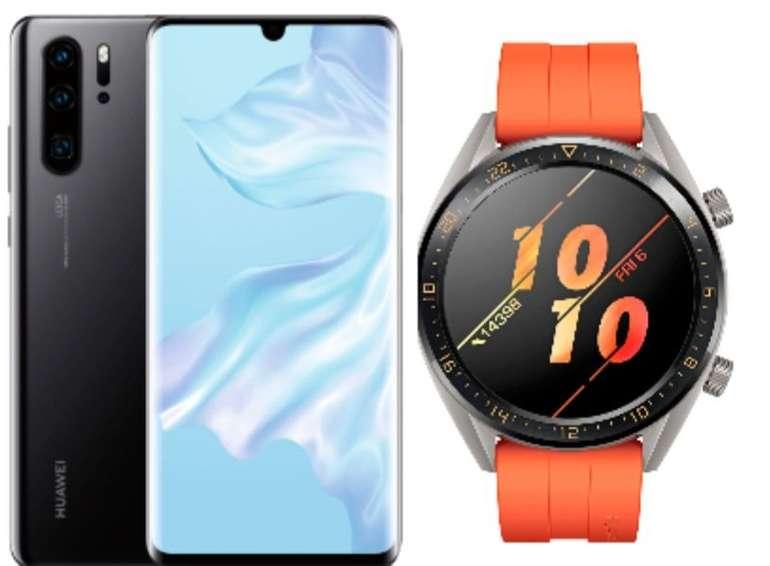 Huawai P30 Pro mit 128 GB Black Dual SIM 128 + Huawei Watch GT Active für 599€ inkl. Versand (statt 734€)