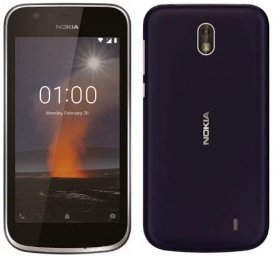Nokia 1 - Android 8.1 Dual SIM Smartphone in blau/rot für 69€ (statt 85€)