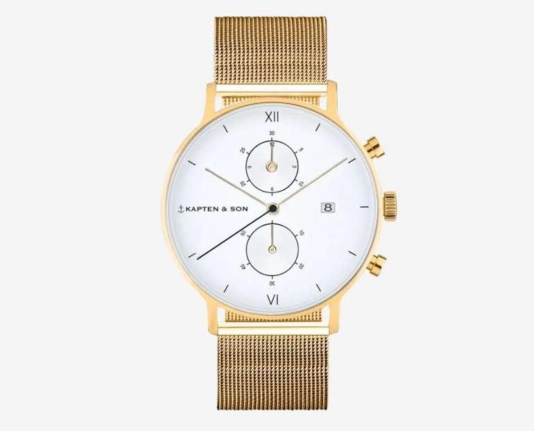 Kapten & Son Uhr Chrono Small Gold für 170,10€ inkl. Versand (statt 239€)