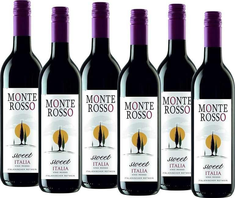 Preisfehler? 6 Flaschen Monte Rosso Sweet Italia Rotwein lieblich für 7,12€ (statt 27€) - Prime!
