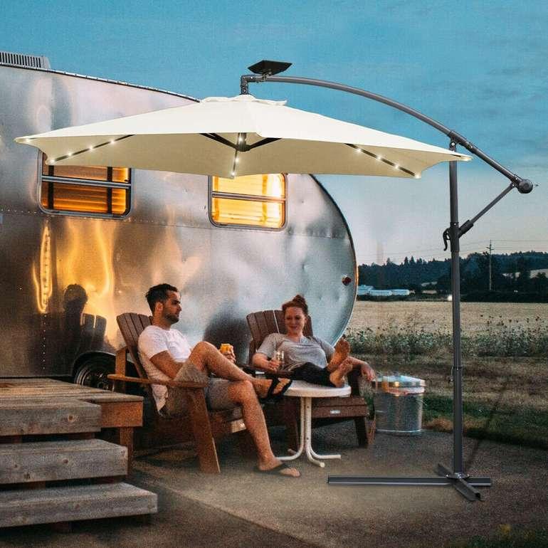 Vingo Sonnenschirm (350cm & 300cm) mit optionaler LED Beleuchtung ab 58,99€ inkl. Versand (statt 80€)