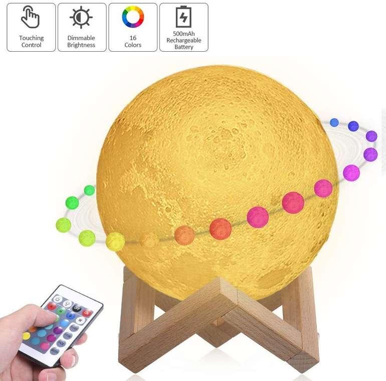 Tomshine 3D Mond Lampe mit Fernbedienung (RGB, dimmbar) für 10,99€ inkl. Prime VSK