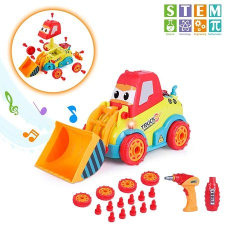 Vatos - Bulldozer Spielzeugautos für Kleinkinder mit Klang & Lichter für 12,49€