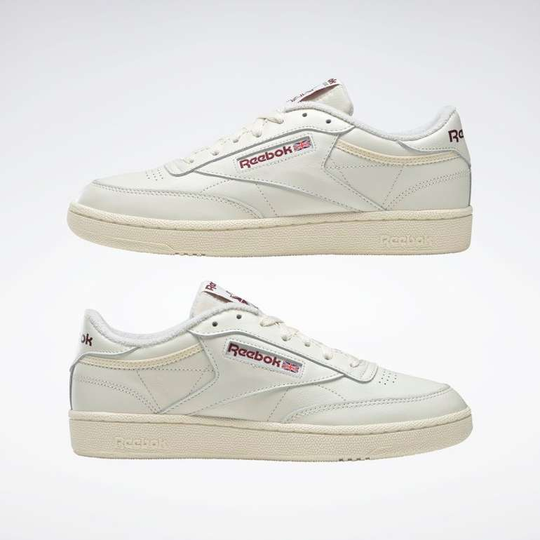 Reebok Classics Club C 85 Sneaker White/Burgundy für 45,90€ inkl. Versand (statt 90€)