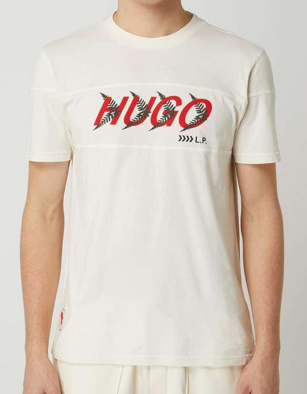 """Hugo Herren T-Shirt """"Dappel"""" mit Logo-Print für 42,49€ inkl. Versand (statt 50€)"""