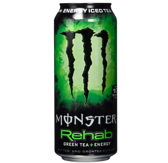 24x 500ml Monster Energy Rehab Green Tea (kurzes MHD, Einwegdosen) für 21,48€