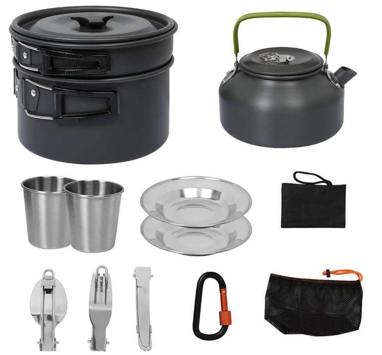 Bmot Camping Geschirr Set, 12-teilig für 22,39€ inklusive Versand (statt 32€)