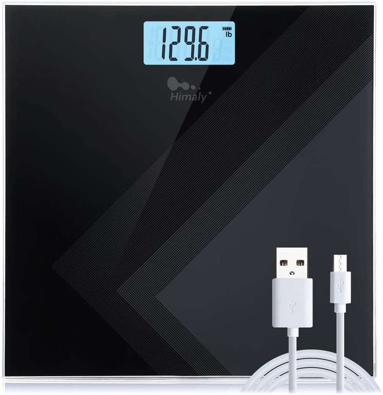 Himaly digitale Personenwaage (LCD-Anzeige, bis 180KG) für 10,99€ inkl. Prime Versand (statt 18€)