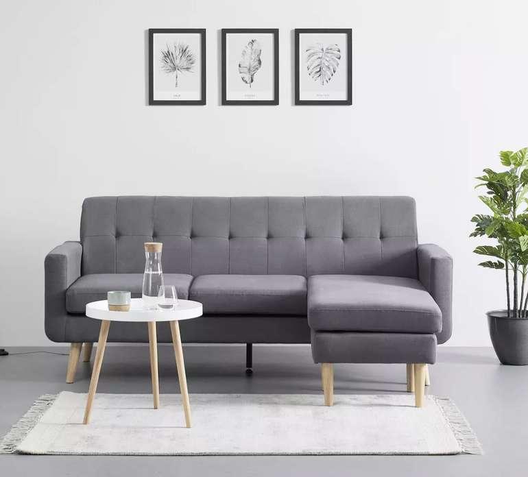 Bessagi Home Wohnlandschaft Tamara in Grau für 279,30€ inkl. Versand (statt 399€)