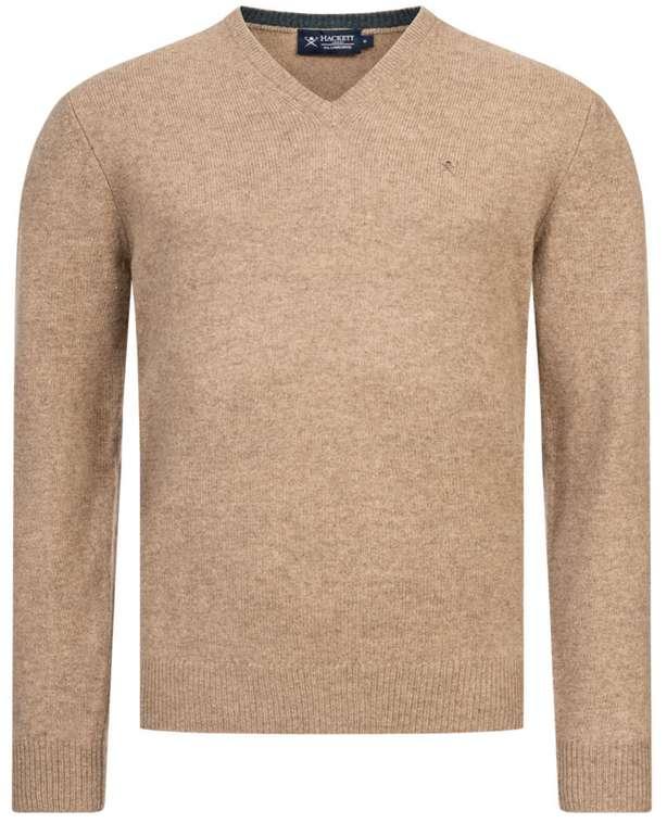 Hackett London Herren Lammwolle Pullover (beige oder rot) für 46,69€ inkl. Versand (statt 60€)