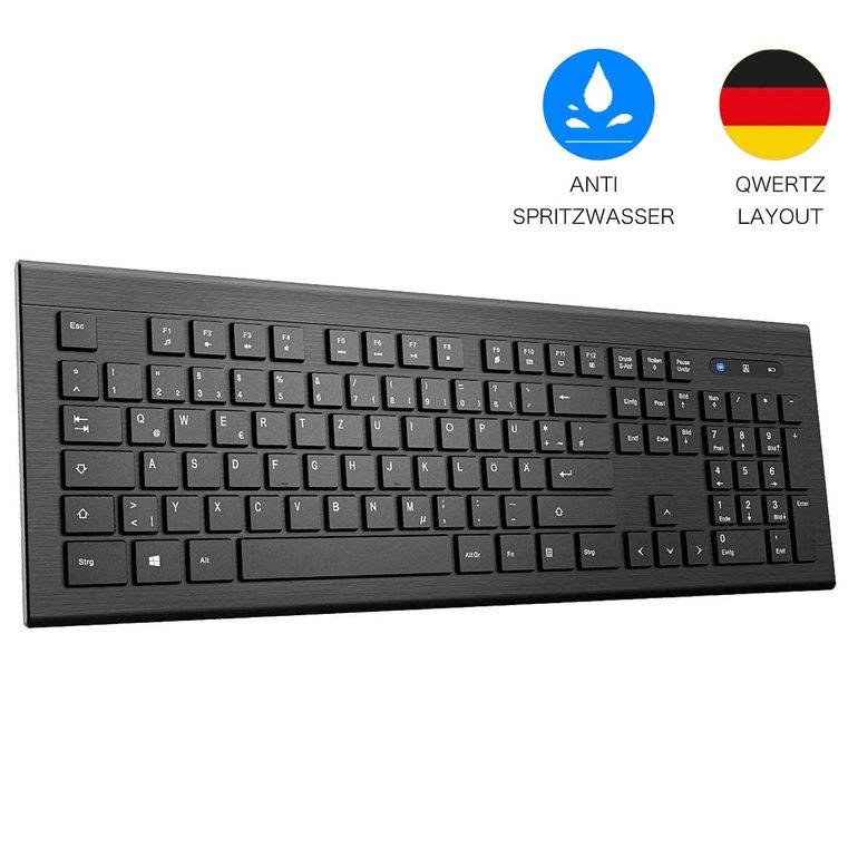 Topelek wireless Tastatur mit USB-Dongle für 14,99€ mit Prime Versand