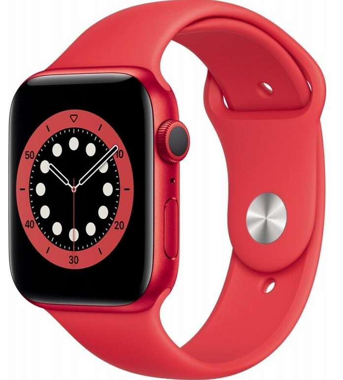 Apple Watch Series 6 (44mm) GPS mit Sportarmband in rot für 335,90€ inkl. Versand (statt 373€)