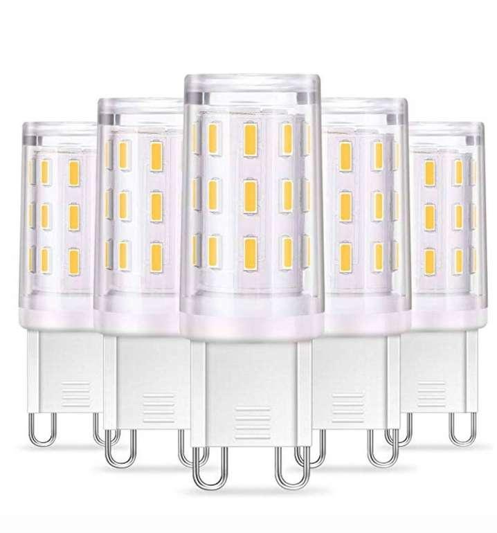 5er Pack KingSo G9 LED Lampen (4W, 350LM, nicht dimmbar) für 6,49€ inkl. Prime