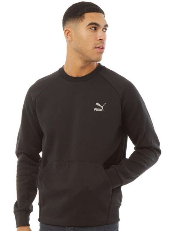 Puma Herren Classics Tech Sweatshirt in Schwarz für 27,90€inkl. Versand (statt 35€)