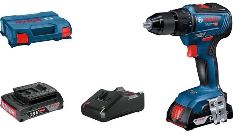 Bosch GSR 18V-55 Professional Aktions-Set: Akku-Bohrschrauber + 2x 2Ah Akkus und Koffer für 161,95€ inkl. Versand
