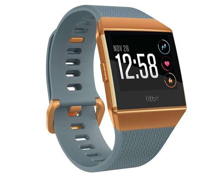 Fitbit Ionic Smartwatch (GPS/Glonass, Herzfrequenzmessung, Musik-Speicherplatz, NFC) für 158,88€