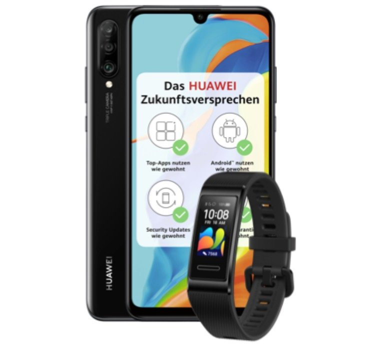 Huawei P30 Lite New Edition mit 256GB + Huawei Band 4 Pro (1€) + Blau Allnet L (5GB LTE) für 17,99€ mtl.