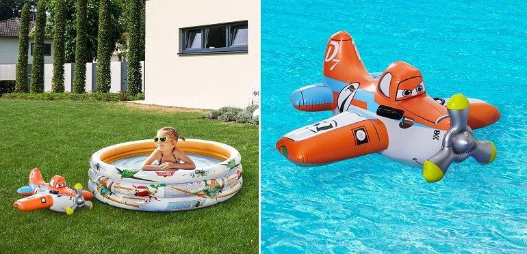Intex Kinderschwimmbecken + Flugzeug Schwimmhilfe 2