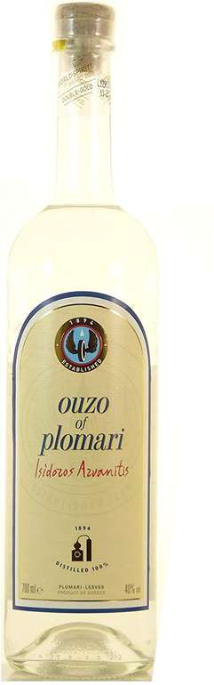 Ouzo Plomari Isidoros Arvanitis 0,7L - 40% Likör für 8,99€ mit Prime Versand (statt 13€)