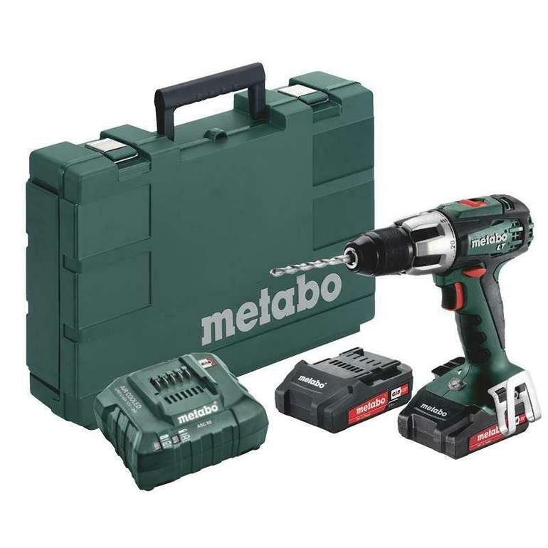 Metabo SB 18 LT Compact Akku-Bohrschrauber + 2x 2,0 Ah Akkus, Ladegerät & Koffer für 116,10€