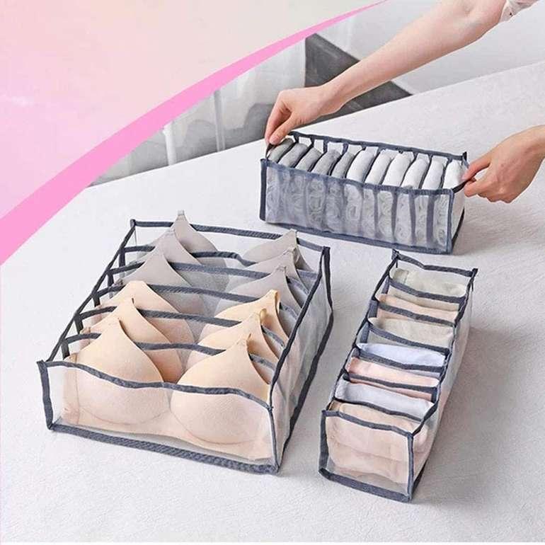 Osyard 3er Set Aufbewahrungsboxen für Unterwäsche für 6,99€ inkl. Versand (statt 23€)