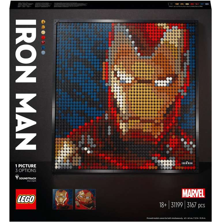 Lego Marvel Iron Man Kunstbild für 78,99€ inkl. Versand (statt 89€)