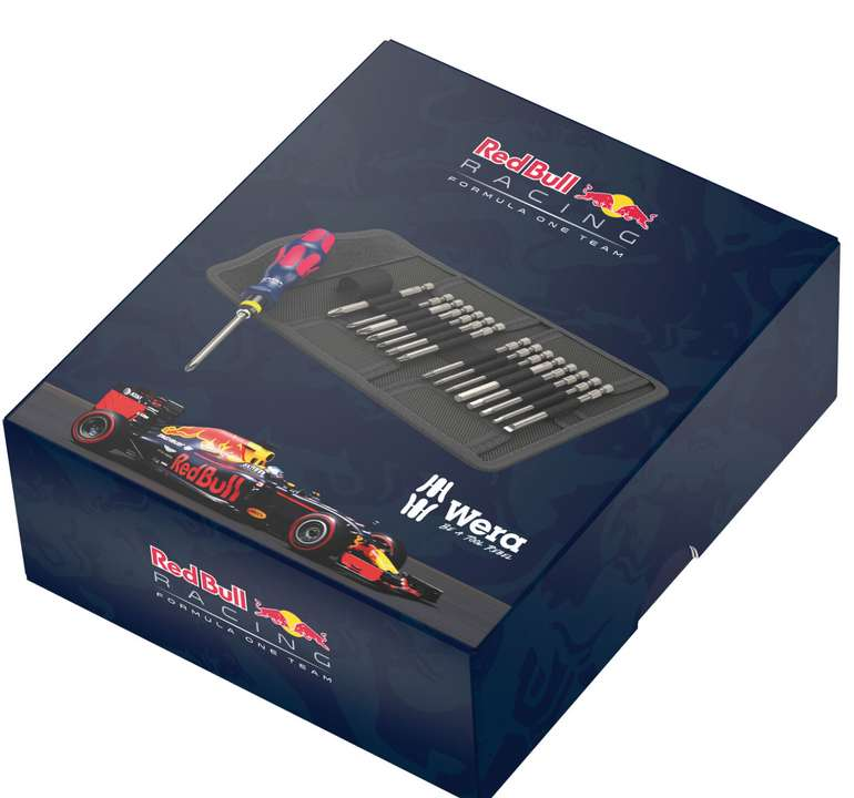 Wera Red Bull Racing Sonderedition Kraftform Kompakt 60 RBR Edelstahl, 17-teilig für 34,90€ inkl. Versand