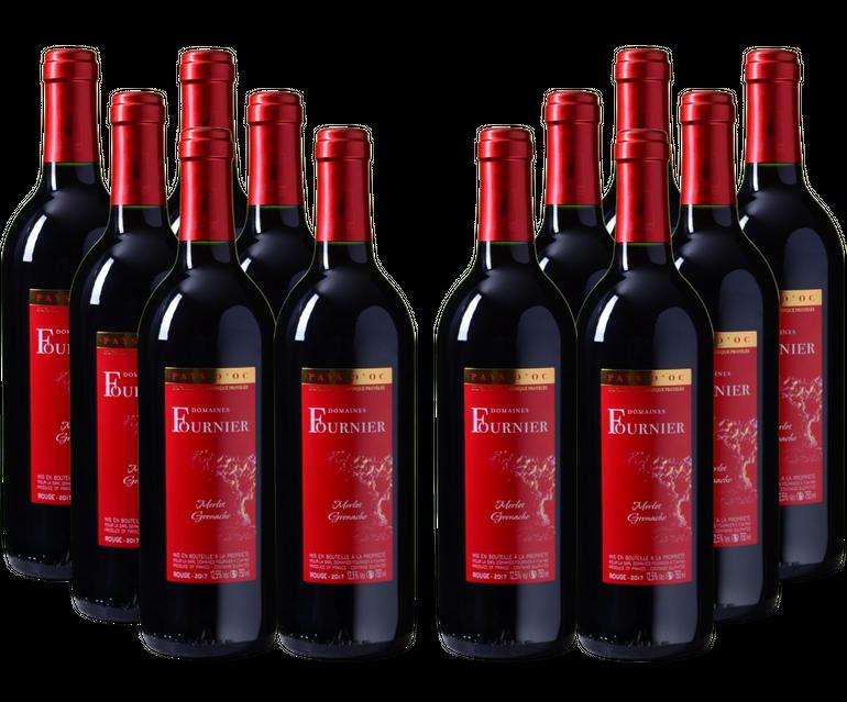 12x 2017er Domaines Fournier Merlot-Grenache Rotwein für 29,95€ inkl. Versand
