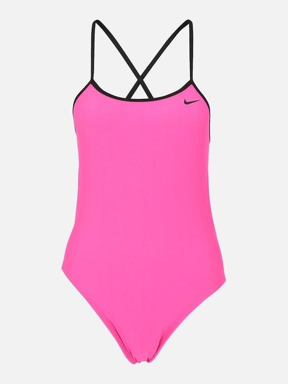 Nike Swim Badeanzug 'Solid' in pink / schwarz für 29,67€ (statt 40€)