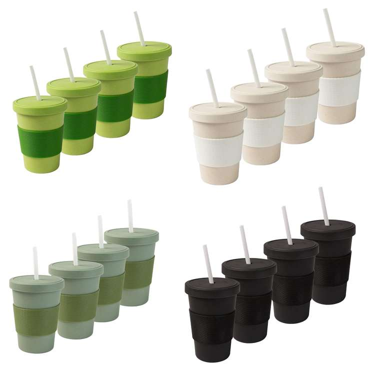 4er Set Bambus-Kaffeebecher für (je 400ml, spülmaschinengeeignet) für 9,99€ inkl. Versand (statt 22€)