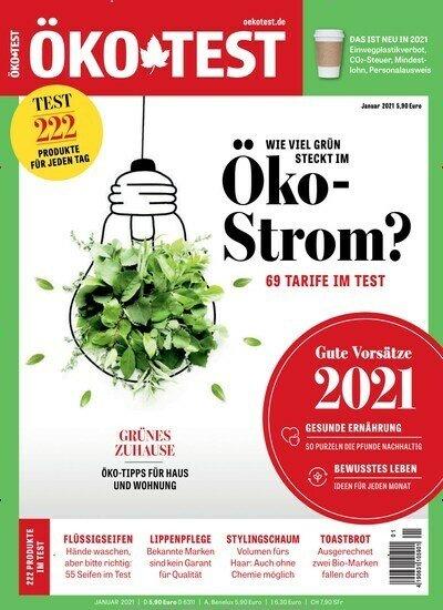Öko-Test Jahresabo (12 Ausgaben) für 63,60€ + z.B. 50€ Amazon.de Gutschein