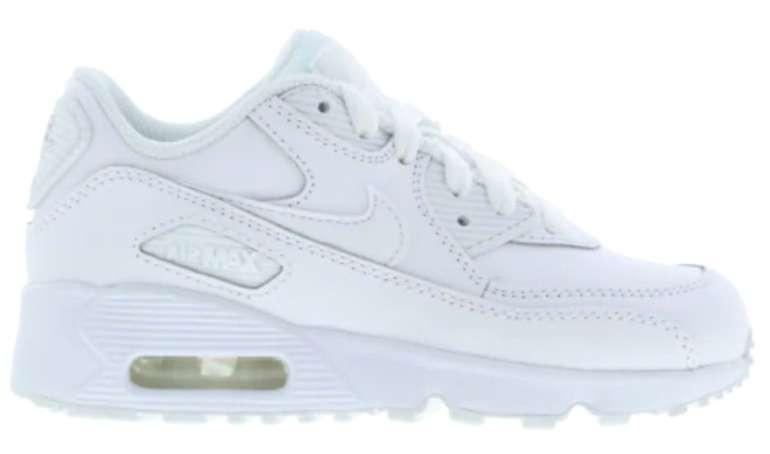Nike Air Max 90 Kinder Sneaker in All-White für 49,99€ inkl. Versand (statt 63€) - Größe 28 bis 33,5!