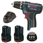 Bosch GSR 10,8-2 Li Akkuschrauber + 2x 1,5 Ah Akku für 76,49€ (statt 90€)