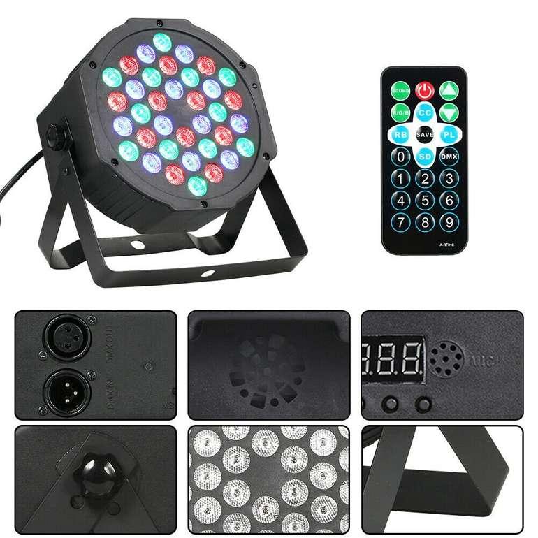 4er Pack NoName PAR Scheinwerfer (LED, RGB, 36W, DMX 512) für 41,99€