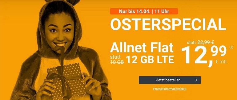 WinSIM o2 AllNet Flat 12GB LTE