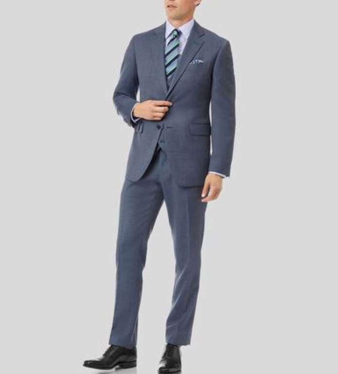Charles Tyrwhitt Sale bis zu 75% Rabatt + 20% Extra - z.B. Strukturierter Anzug Hellblau für 147,92€ (statt 185€)
