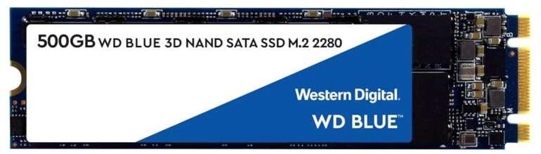Western Digital Blue SSD 3D M.2 mit 500GB für 50,94€ inkl. Versand (statt 67€) - Newsletter Gutschein!